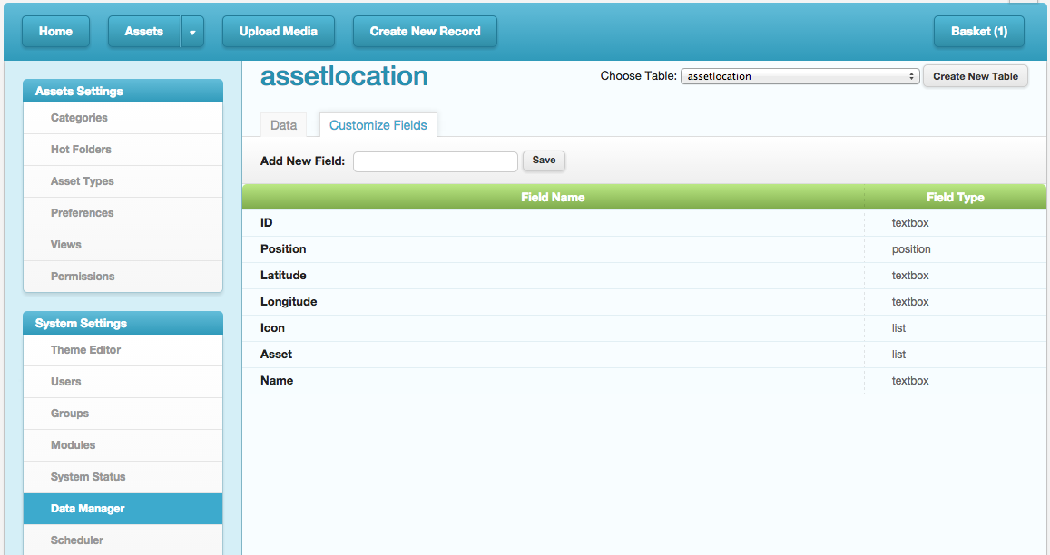AssetLocationCustomizedFields