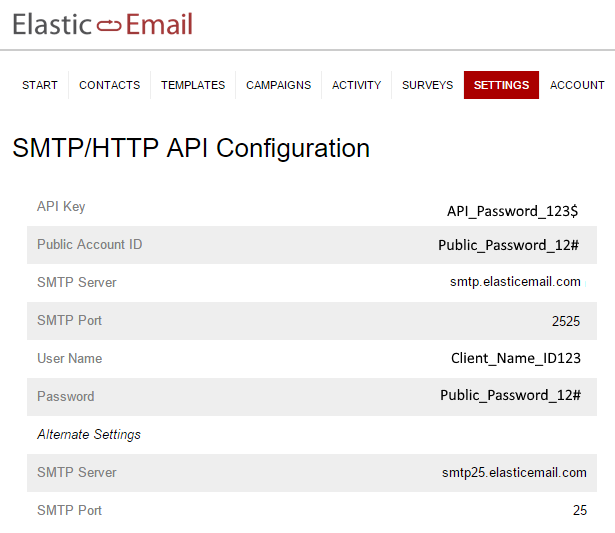 ElasticEmail SMTP Email