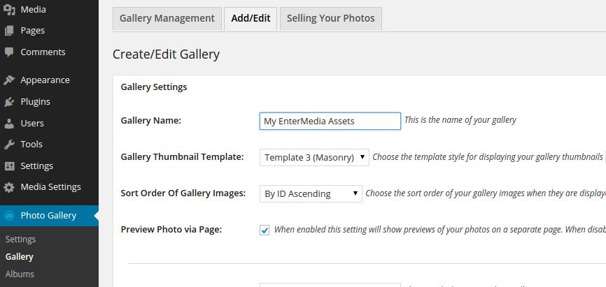 Wordpress - Gallery