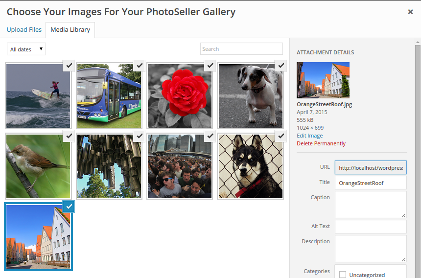 Publish Gallery to WordPress