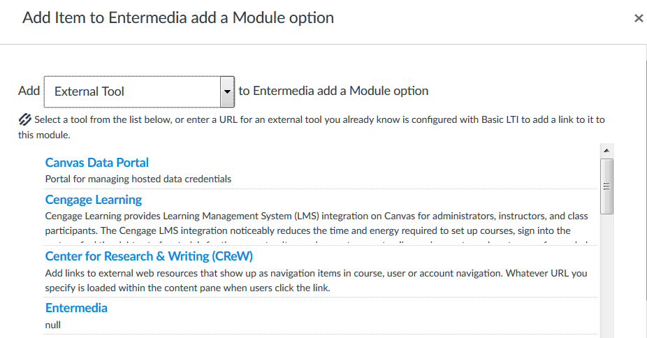 Canvas integration with EnterMedia DAM